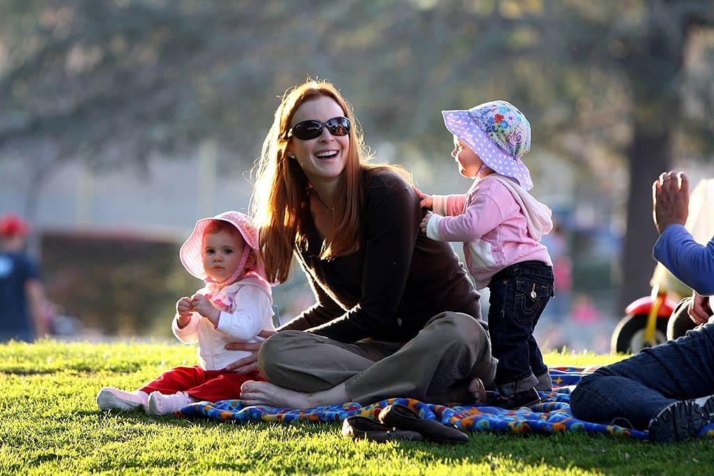 "Marcia Cross' twin girls Eden and Savannah double her fun! Bigfive/<a href=""http://www.x17online.com"" target=""new"">X17 Online</a> - February 10, 2008"