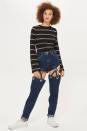 """<p>People think Topshop have lost their minds thanks to these incredibly creative suspender jeans. The quirky style will <a rel=""""nofollow noopener"""" href=""""http://www.topshop.com/webapp/wcs/stores/servlet/ProductDisplay?beginIndex=1&langId=-1&productId=29367530&Ntt=suspender+jeans&pageSize=20&defaultGridLayout=3&Nty=1&CE3_ENDECA_PRODUCT_ROLLUP_ENABLED=N&productOnlyCount=1&catalogId=33057&Dy=1&pageNum=1&productIdentifierproduct=product&storeId=12556&qubitRefinements=siteId%3DTopShopUK"""" target=""""_blank"""" data-ylk=""""slk:set you back £85"""" class=""""link rapid-noclick-resp"""">set you back £85</a> and are being described as """"hellish"""" and a """"sartorial nightmare"""" by shoppers.<br><i>[Photo: Topshop]</i> </p>"""