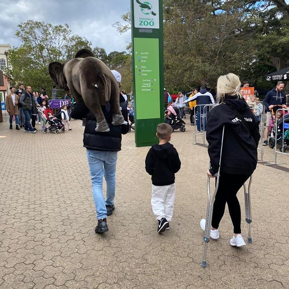 Roxy explained that after falling of a horse she was out of action for six weeks laying on her back with daily shots, physiotherapy and appointments with orthopaedic surgeons. Photo: Instagram/Roxy Jacenko