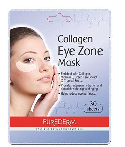 """<p>Peep the reviews and you'll see fans of these <span>Purederm Collagen Eye Zone Pad Patches</span> ($3) have <span>seen dark circles lighten</span>, eye bags diminished, and puffiness reduced. That's thanks to a mix of tea extract, vitamin E, and <a href=""""https://blog.glowrecipe.com/2015/04/12/ingredients-spotlight-natto-gum/"""" class=""""link rapid-noclick-resp"""" rel=""""nofollow noopener"""" target=""""_blank"""" data-ylk=""""slk:natto gum"""">natto gum</a>, a soybean-based substance chock-full of skin-hydrating amino acids.</p>"""