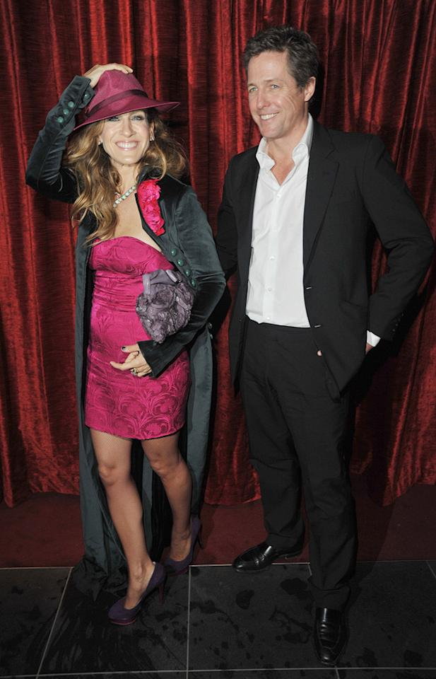 "<a href=""http://movies.yahoo.com/movie/contributor/1800016083"">Sarah Jessica Parker</a> and <a href=""http://movies.yahoo.com/movie/contributor/1800019156"">Hugh Grant</a> at the London premiere of <a href=""http://movies.yahoo.com/movie/1810079689/info"">Did You Hear About the Morgans?</a> - 12/08/2009"