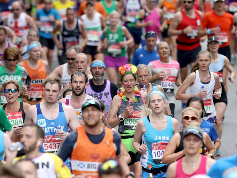 Runners take part in the 2017 London Marathon: Getty