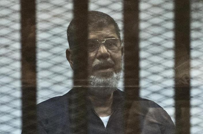 Mohamed Morsi was sentenced to death in June for allegedly participating in prison breaks and violence against police (AFP Photo/Khaled Desouki)