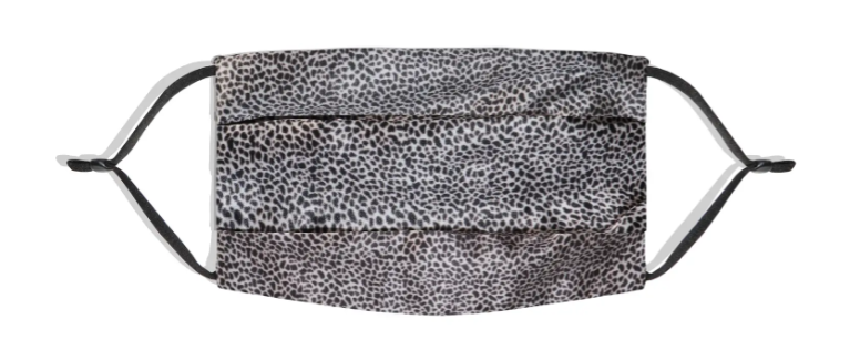 Slip Pure Silk Adult Pleated Face Covering in Leopard