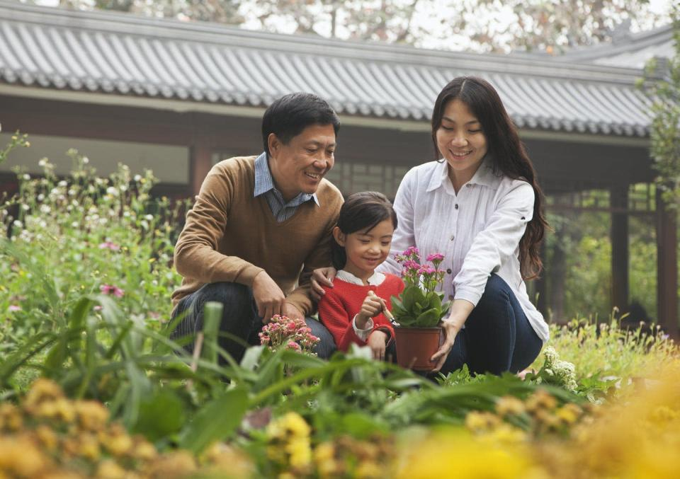 """<span class=""""caption"""">Every known culture on Earth has special words for kids to call their parents.</span> <span class=""""attribution""""><a class=""""link rapid-noclick-resp"""" href=""""https://www.gettyimages.com/detail/photo/happy-family-in-garden-royalty-free-image/186479136"""" rel=""""nofollow noopener"""" target=""""_blank"""" data-ylk=""""slk:XiXinXing via Getty Images"""">XiXinXing via Getty Images</a></span>"""
