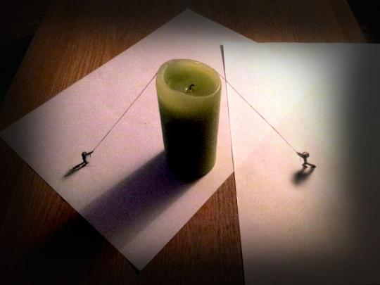 <span>And, indeed, to get his creations to come alive and jump off the pages, he adds subtle props such as a candle, pencils, pens, or even his own fingertips.</span>