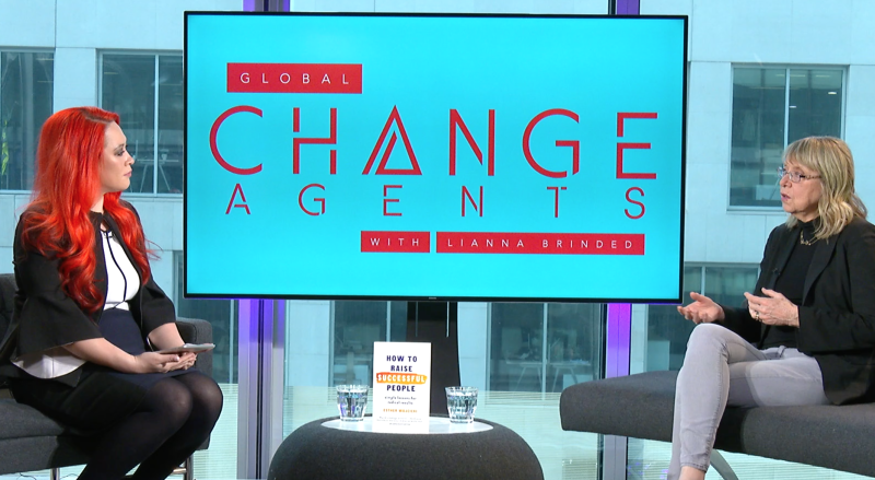 Esther Wojcicki (right) appeared on Global Change Agents with Lianna Brinded. Photo: Yahoo Finance UK