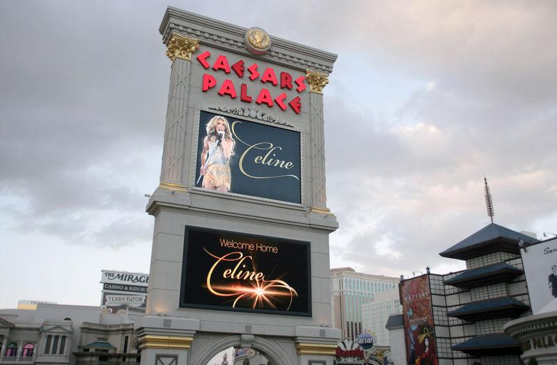 FILE PHOTO - The marquee sign at Caesars Palace in Las Vegas