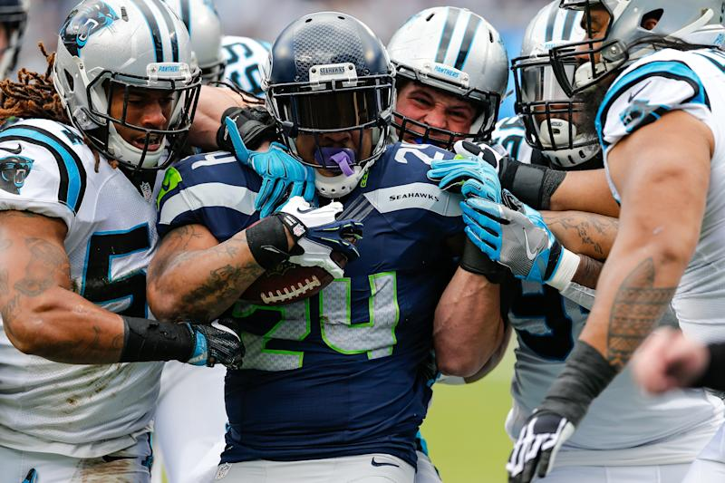 Beast Mode is back in Seattle. (AP file photo)