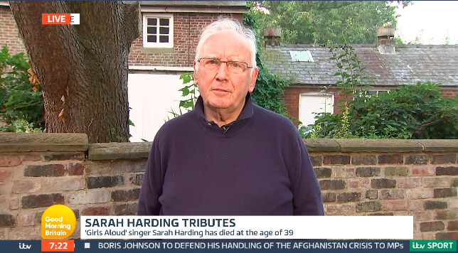 Pete Waterman said Sarah Harding had an aura about her when she walked into the room. (ITV)