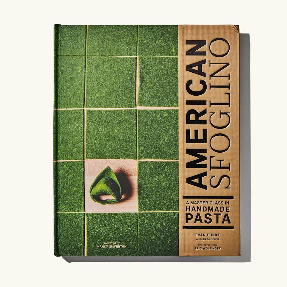 """<p>After tasting the ricotta-stuffed tortelli with peas and ramps at LA's Trattoria Felix, I understood the hype: <strong>Evan Funke</strong> is a pasta genius. In <em>American Sfoglino</em>, he dives deep into the art of hand-rolled pasta, sharing his knowledge as a trained sfoglino (the Italian word for """"maker of fresh pasta sheets""""). He starts with four foundational doughs, then moves through 14 shapes, from tagliatelle to caramelle to gnocchi, and the sauces that suit them best (think pappardelle with wild boar ragù and triangoli with honey and aged pecorino). If you're looking for a fall cooking project, stop here. —<em>Molly Baz, senior associate food editor</em></p> <p><strong><a href=""""https://www.amazon.com/American-Sfoglino-Master-Class-Handmade/dp/1452173311"""" rel=""""nofollow"""">Buy It: American Sfoglino by Evan Funke, $25 on amazon.com</a></strong></p>"""