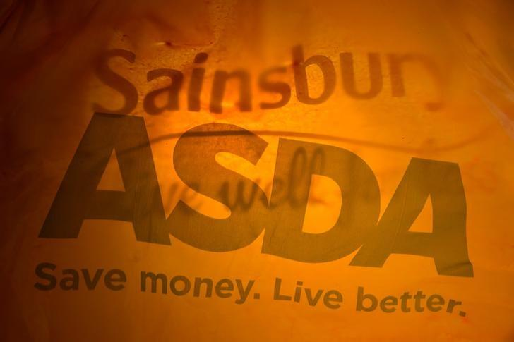 FILE PHOTO: Till receipts from Asda and Sainsbury's can be seen in this photo illustration