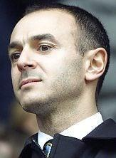 Now and then: Daniel Levy (main image and above in his first season at Spurs).Andy Hooper