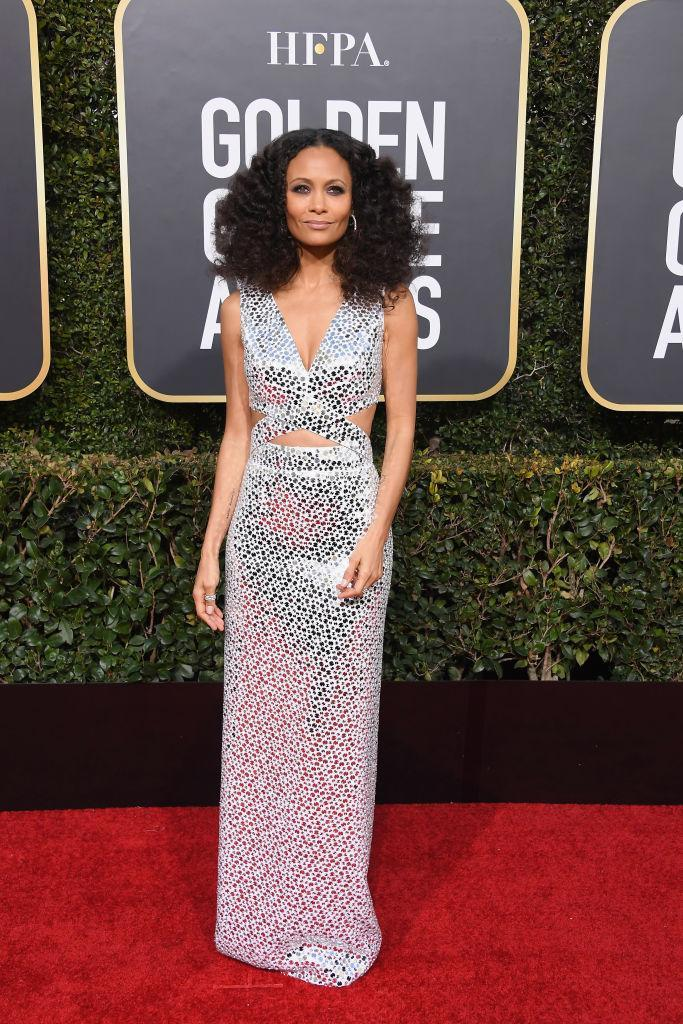 <p>Thandie Newton attends the 76th Annual Golden Globe Awards at the Beverly Hilton Hotel in Beverly Hills, Calif., on Jan. 6, 2019. (Photo: Getty Images) </p>