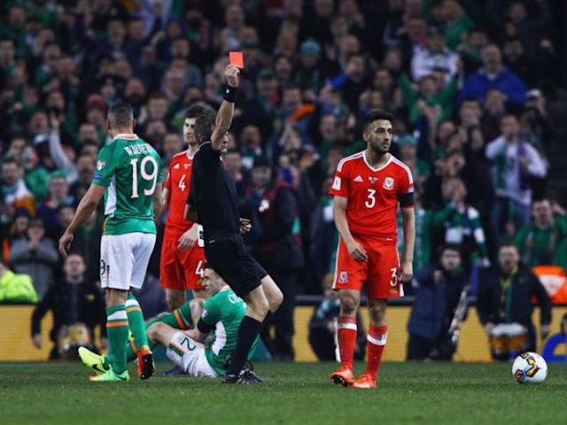 Neil Taylor has been defended by former Liverpool player Jamie Carragher: Getty