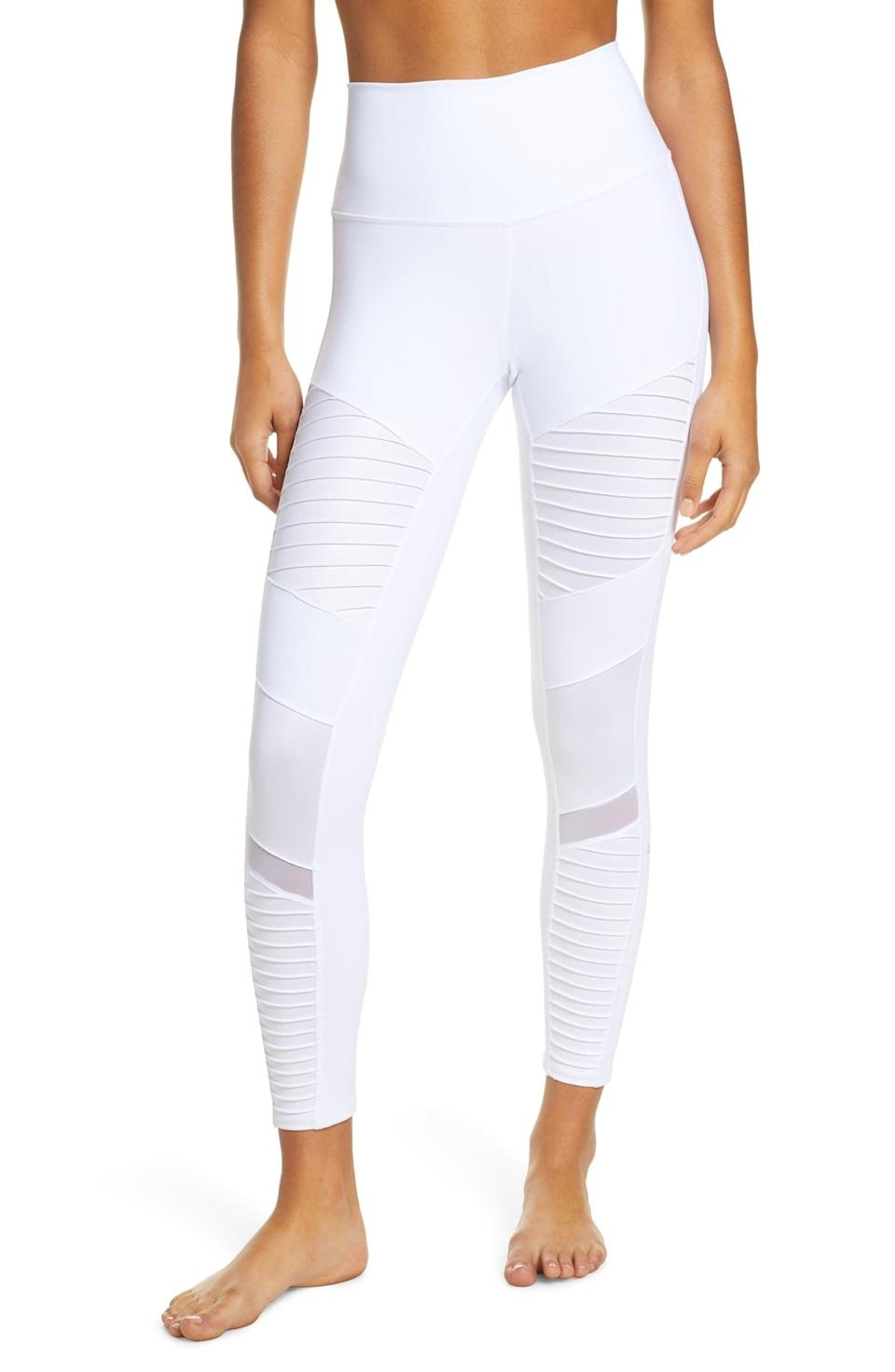 <p>These <span>Alo High Waist Moto 7/8 Leggings</span> ($114) look so good on.</p>