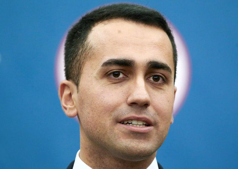 FILE PHOTO: 5-Star Movement leader Luigi Di Maio talks during a news conference, the day after Italy's parliamentary election, in Rome