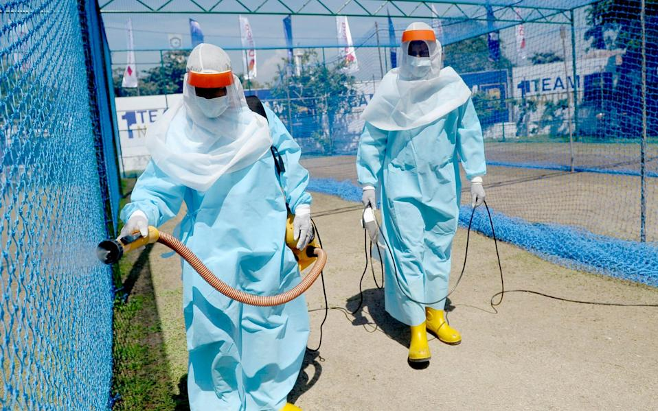 England are currently in Sri Lanka, where nets are sterilised every day