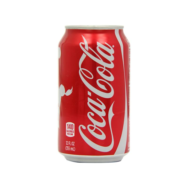 While it's regularly vilified for it's high sugar content of 39 grams per can, Coca Cola doesn't actually have the highest amount of sugar in this roundup.