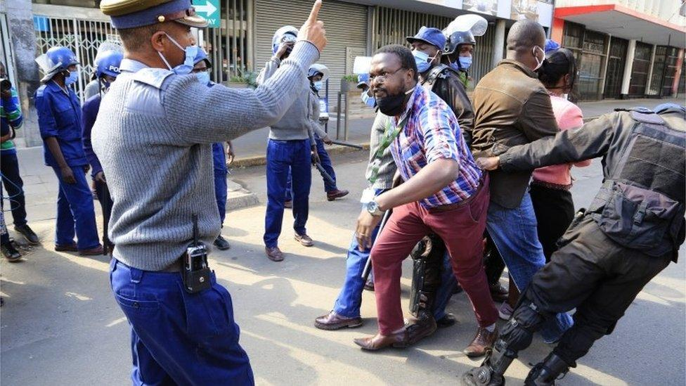 Police and opposition members often clash in Zimbabwe