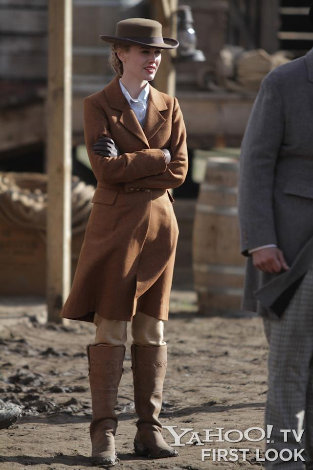 Lily Bell (Dominique McElligott) - Hell On Wheels - Season 2, Episode 2 - Photo Credit: Michelle Faye/AMC