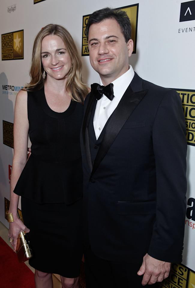 Molly McNearney and Jimmy Kimmel attend the 2012 Critics' Choice Television Awards at The Beverly Hilton Hotel on June 18, 2012 in Beverly Hills, California.