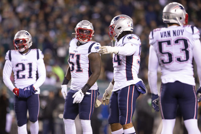 "Just how bad do you think the <a class=""link rapid-noclick-resp"" href=""/nfl/teams/new-england/"" data-ylk=""slk:Patriots"">Patriots</a> defense is gonna shut down the Bengals in Week 15? (Photo by Mitchell Leff/Getty Images)"