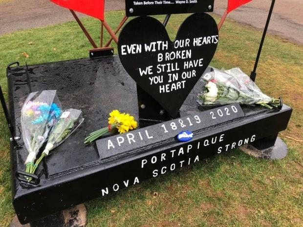 A memorial at Victoria Park in Truro, N.S., was a focal point for many of the people gathered to honour the victims.