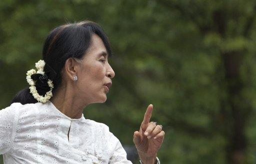Myanmar democracy icon Aung San Suu Kyi