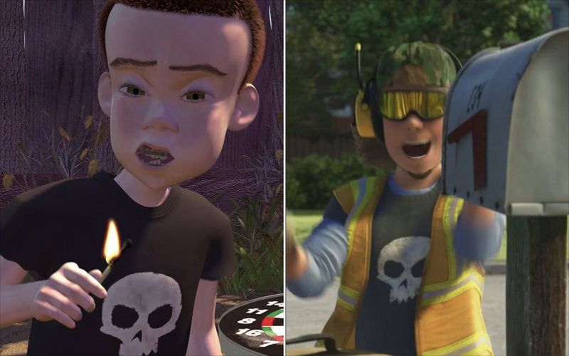 Sid appears in Toy Story and Toy Story 3 (credit: Pixar)
