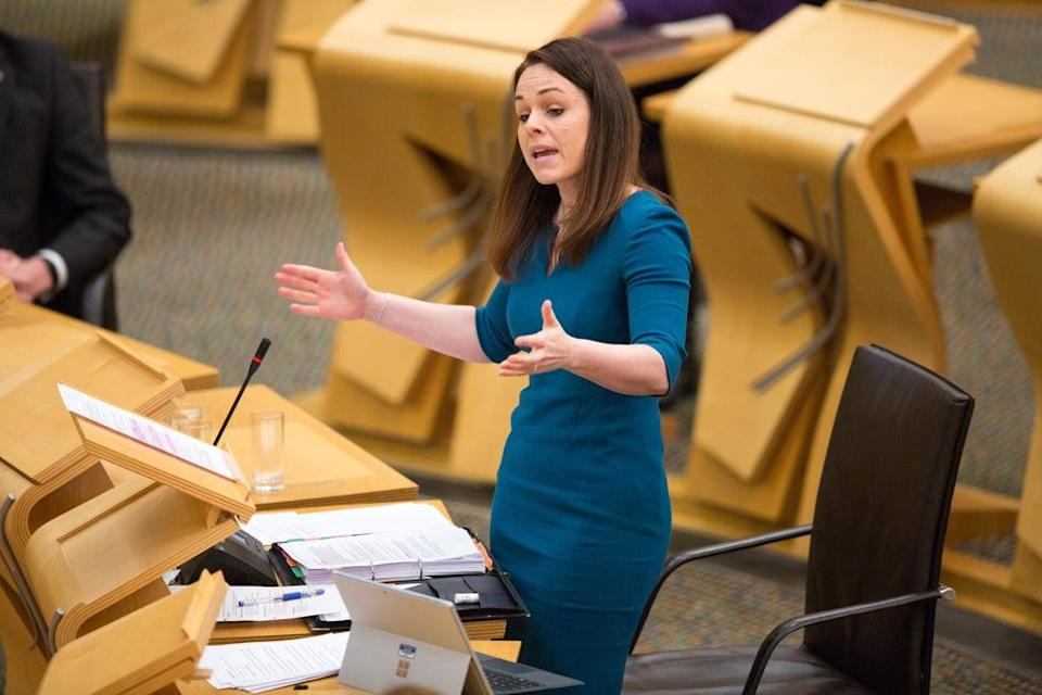 Scottish Finance Secretary Kate Forbes discussed Scotland's deficit (Robert Perry/PA) (PA Archive)