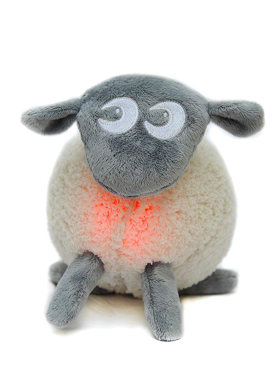 """<p>New mums swear by Ewan the sheep, a cuddly toy designed to mimic the womb. Using light and heartbeat recordings, the cuddly toy is guaranteed to lull your little one into a peaceful slumber. <em><a href=""""https://www.boots.com/sweetdreamers-ewan-the-dream-sheep-grey-10205089"""" rel=""""nofollow noopener"""" target=""""_blank"""" data-ylk=""""slk:Buy here"""" class=""""link rapid-noclick-resp"""">Buy here</a></em>. </p>"""