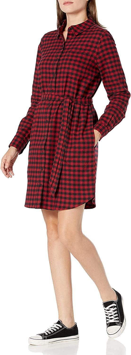 <p><span>Goodthreads Flannel Relaxed Fit Belted Shirt Dress</span> ($25, originally $35)</p>