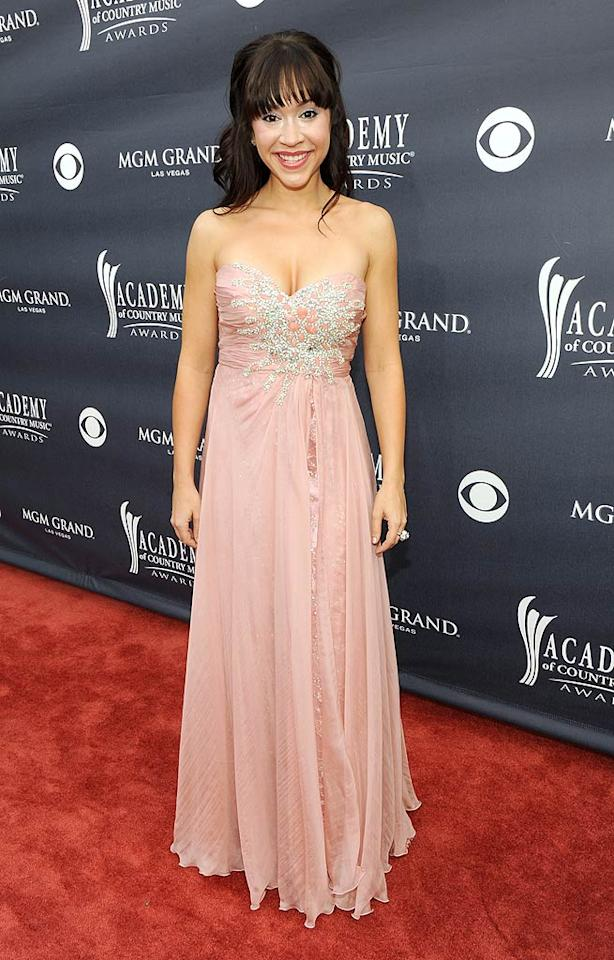 """Diana DeGarmo  Grade: C-   Another """"Idol,"""" Diana DeGarmo, attempted to get all dolled up for the awards show ... in a pink prom bomb. Frazer Harrison/<a href=""""http://www.gettyimages.com/"""" target=""""new"""">GettyImages.com</a> - April 3, 2011"""