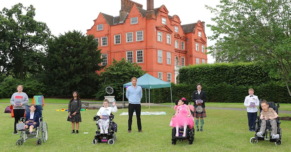 Prince Harry meeting the winners of the WellChild Awards