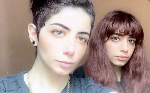 <span>Dua (L) and Dalal (R) al-Showaiki used Twitter to document their escape from their family from Turkey</span>