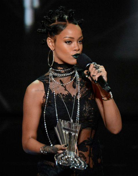 PHOTO: Rihanna accepts the Song of the Year award for 'Stay' onstage during the 2014 iHeartRadio Music Awards held at The Shrine Auditorium, May 1, 2014, in Los Angeles. (Kevin Mazur/Getty Images, FILE)
