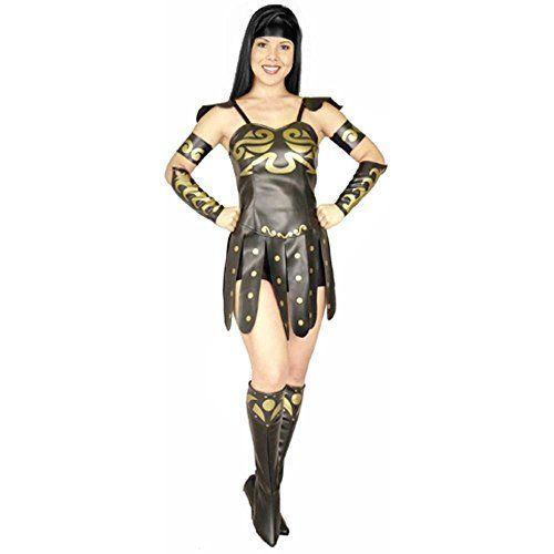 """<p><strong>Funfill Costume Co</strong></p><p>amazon.com</p><p><strong>$39.99</strong></p><p><a href=""""http://www.amazon.com/dp/B0128CCMLC/?tag=syn-yahoo-20&ascsubtag=%5Bartid%7C10055.g.28102891%5Bsrc%7Cyahoo-us"""" rel=""""nofollow noopener"""" target=""""_blank"""" data-ylk=""""slk:Shop Now"""" class=""""link rapid-noclick-resp"""">Shop Now</a></p><p>Evil is no match against this bad-girl-gone-good. If you have a bestie who wants to dress up with you, consider having her go as Xena's partner in fighting crime, Gabrielle. </p>"""