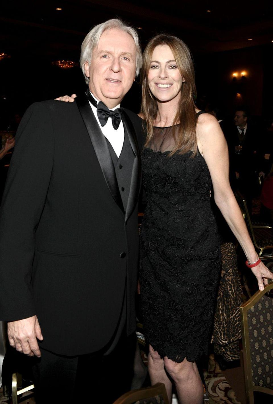 <p>Not only are James Cameron and Kathryn Bigelow Hollywood peers and Academy Award-winning directors, they're also exes. The couple was married for two years following their 1989 wedding. Years later, they sat only a few feet apart when their films competed for Best Picture at the Oscars in 2010. </p>