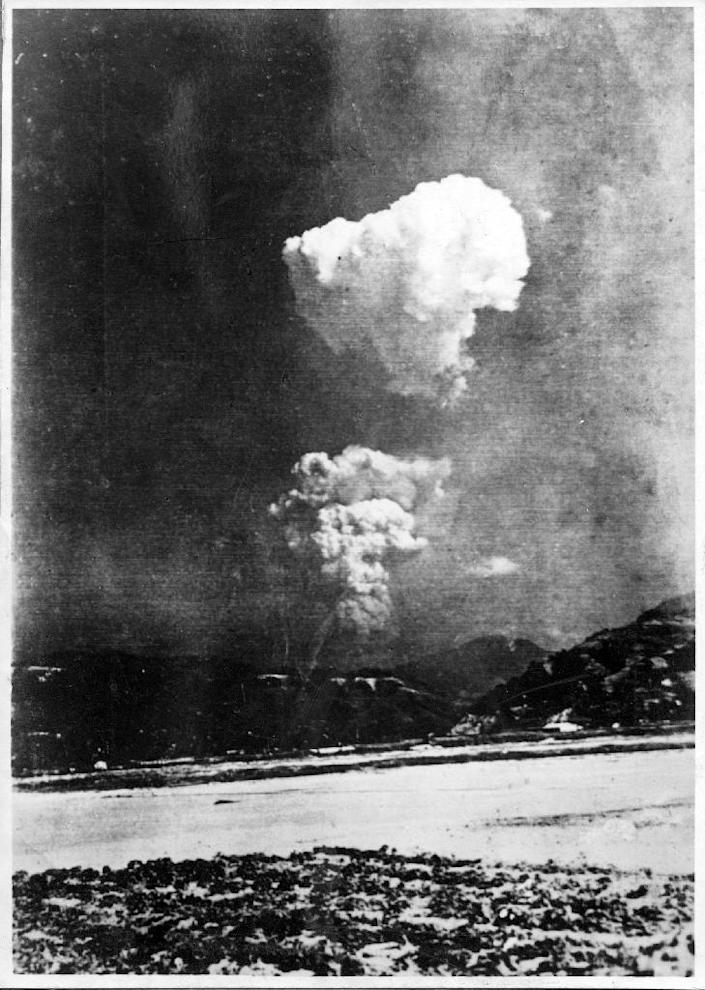 The atomic bomb had a yield of 15 kilotonnes, equal to 15,000 tonnes of TNT, yet was 3,300 times less powerful than the biggest hydrogen bomb tested by the Soviet Union in 1961 (AFP Photo/STR)