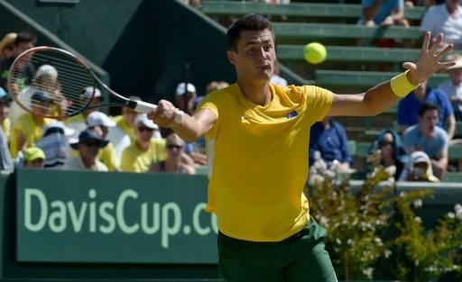 Tomic rolls Sock as Aussies find feet on grass