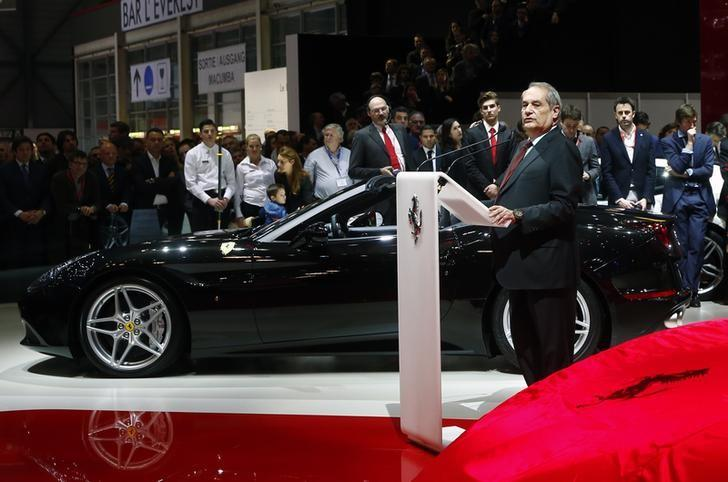 Ferrari S.p.A. CEO Felisa addresses media during the first press day ahead of the 85th International Motor Show in Geneva