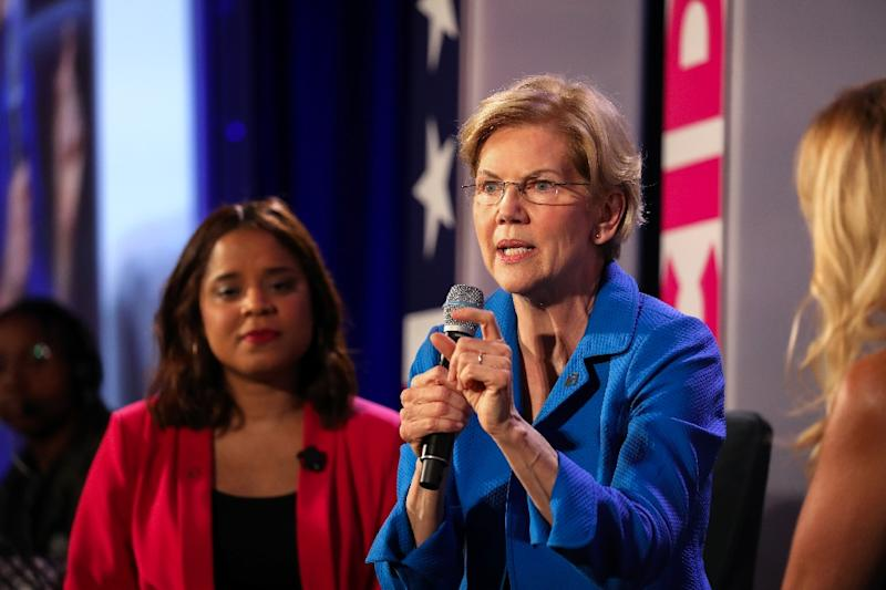 Democratic presidential candidate Elizabeth Warren at a conference organized by Planned Parenthood in Columbia, South Carolina on June 22, 2019 (AFP Photo/Logan Cyrus)