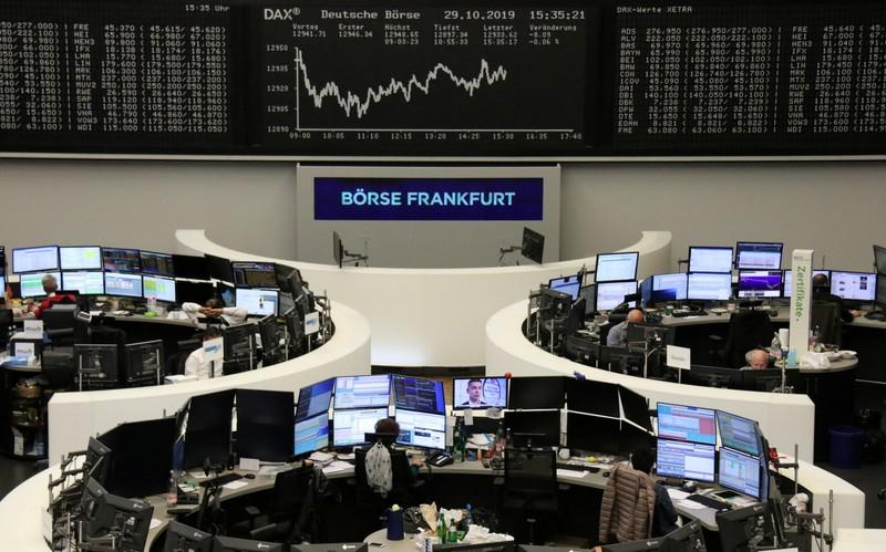 Trade optimism, upbeat earnings send European shares to four-year peak