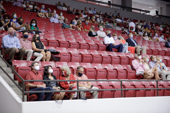 A limited number of family members were also allowed to attend (Matthew Wood - University of Alabama Photography)