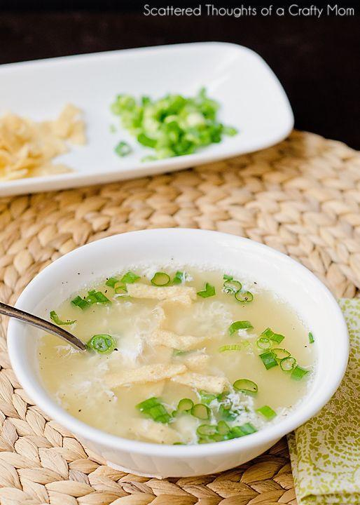 """<p>Start your meal with a healthy soup, then go hard on all the noodles.</p><p>Get the recipe from <a href=""""http://www.scatteredthoughtsofacraftymom.com/2014/03/egg-drop-soup-recipe.html"""" rel=""""nofollow noopener"""" target=""""_blank"""" data-ylk=""""slk:Scattered Thoughts of a Crafty Mom"""" class=""""link rapid-noclick-resp"""">Scattered Thoughts of a Crafty Mom</a>.</p>"""