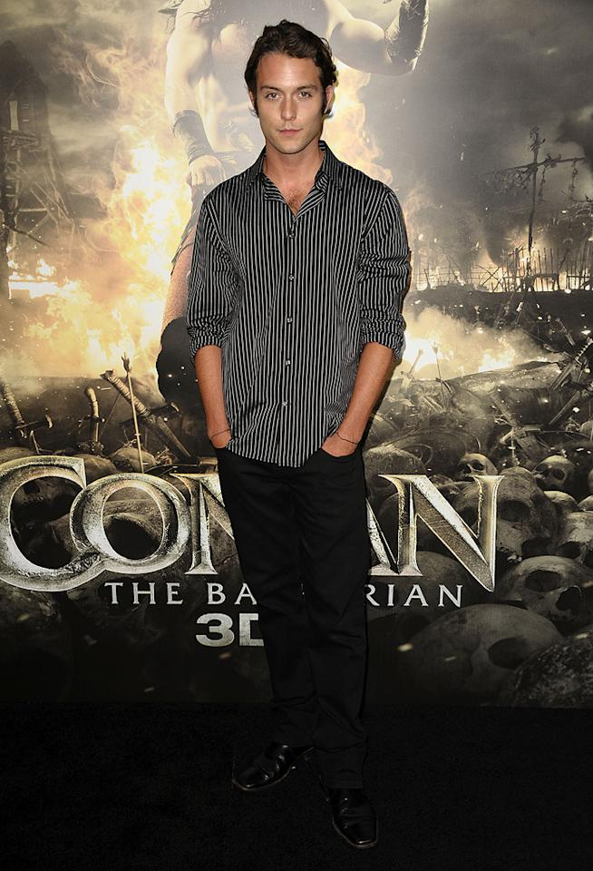 """<a href=""""http://movies.yahoo.com/movie/contributor/1800115095"""">Chase Ryan Jeffrey</a> at the Los Angeles premiere of <a href=""""http://movies.yahoo.com/movie/1809953260/info"""">Conan the Barbarian</a> on August 11, 2011."""
