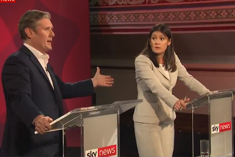 Sir Keir Starmer and Lis Nandy clashed over responses to anti-Semitism (Sky News)