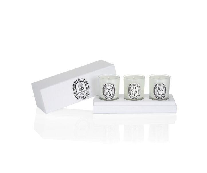 "<h2>Set of Small candles</h2><br>This candle set contains varying delicious scents, perfect for lighting beside your bedroom office. <br><br><strong>Diptyque</strong> Set of Small candles (Berries, Fig Tree, Roses), $, available at <a href=""https://go.skimresources.com/?id=30283X879131&url=https%3A%2F%2Fwww.diptyqueparis.com%2Fen_us%2Fp%2Fset-of-small-candles-berries-fig-tree-roses.html"" rel=""nofollow noopener"" target=""_blank"" data-ylk=""slk:Diptyque"" class=""link rapid-noclick-resp"">Diptyque</a>"