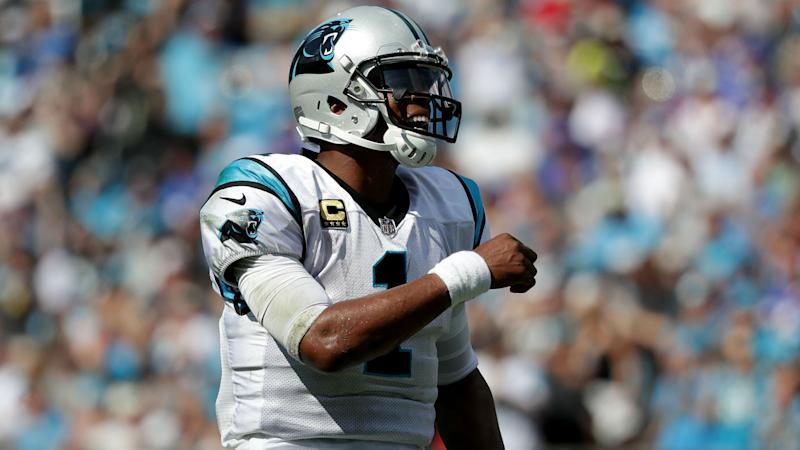 Panthers' Cam Newton sports 'Praying for Vegas' cleats during warmups
